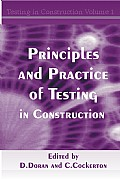 Principles and Practice of Testing in Construction Cover